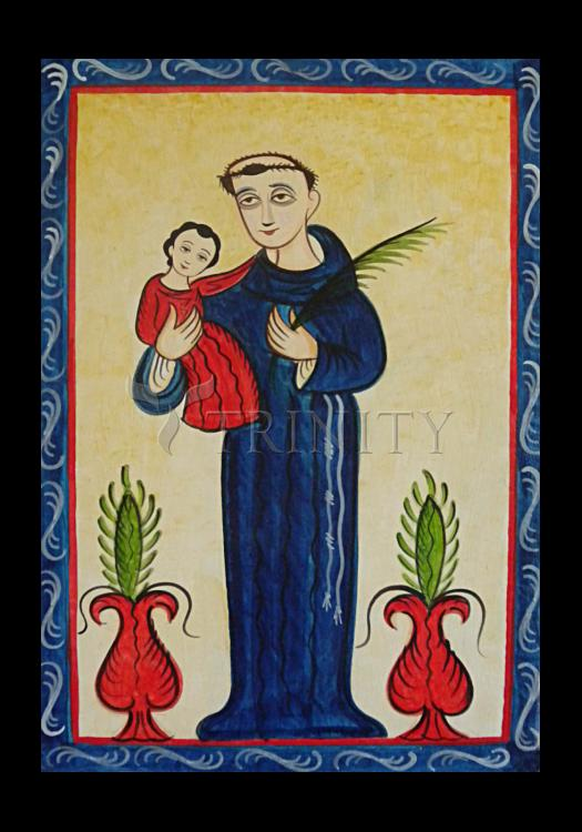 Holy Card - St. Anthony of Padua by A. Olivas