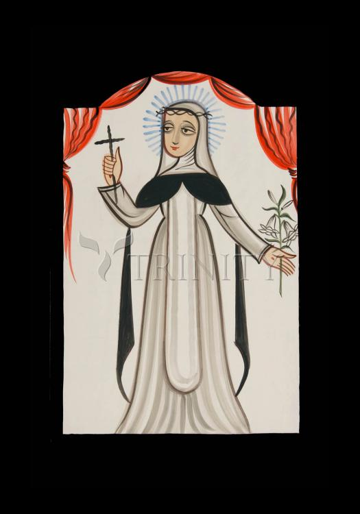 Holy Card - St. Catherine of Siena by A. Olivas