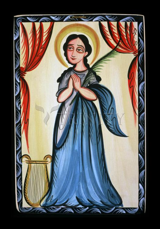 Holy Card - St. Cecilia by A. Olivas