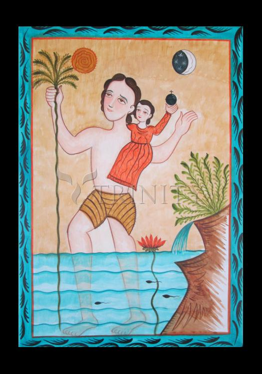 Holy Card - St. Christopher by A. Olivas