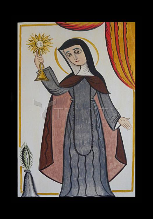 Holy Card - St. Clare of Assisi by A. Olivas