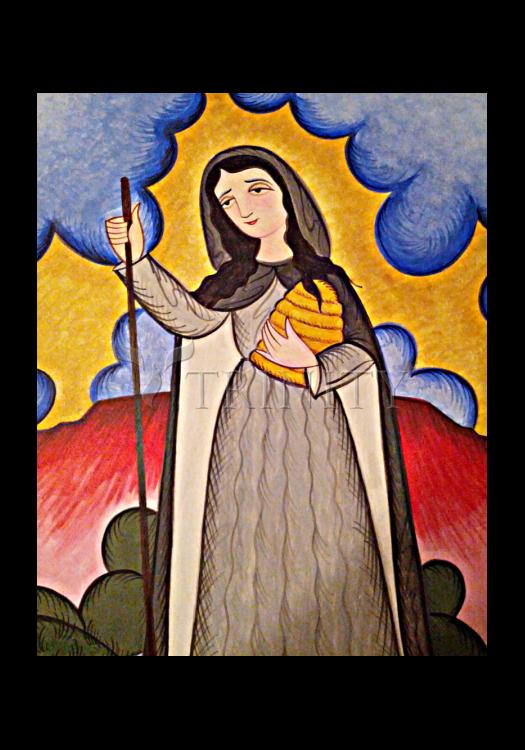 Holy Card - St. Gobnait by A. Olivas
