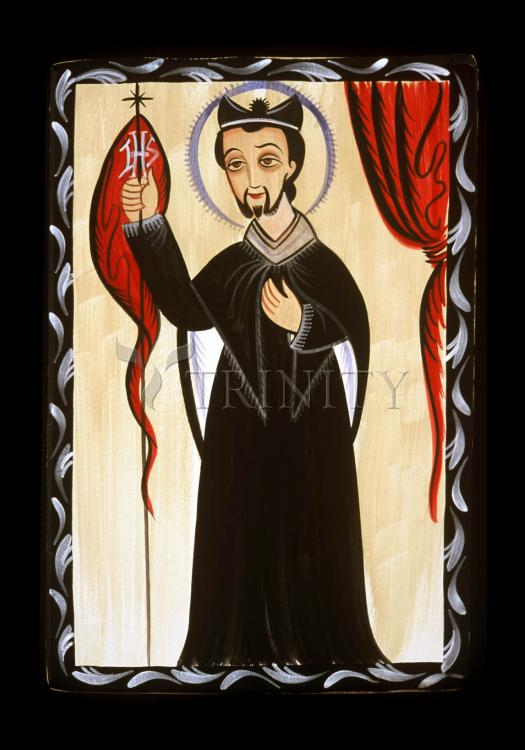 Holy Card - St. Ignatius of Loyola by A. Olivas
