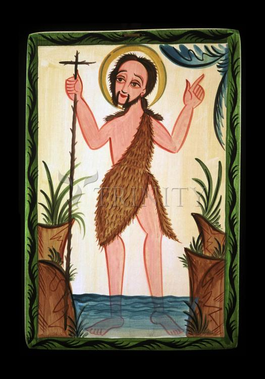 Holy Card - St. John the Baptist by A. Olivas