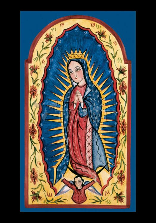 Holy Card - Our Lady of Guadalupe by A. Olivas