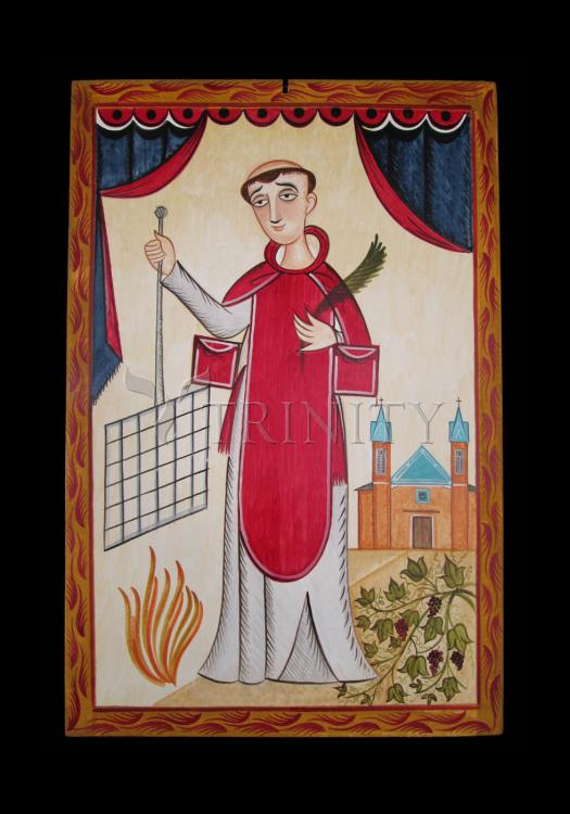 Holy Card - St. Lawrence by A. Olivas