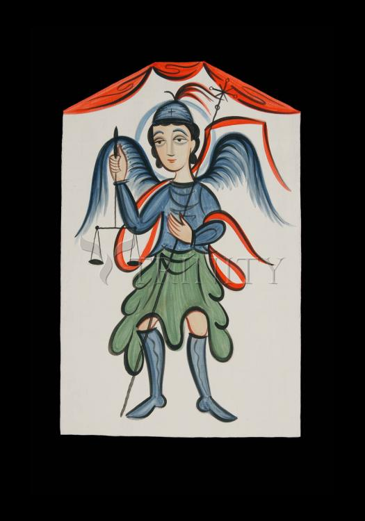 Holy Card - St. Michael Archangel by A. Olivas
