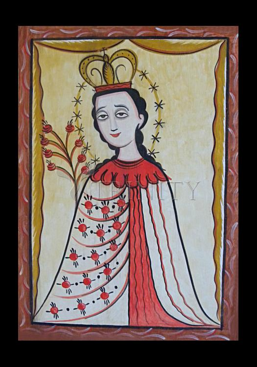 Holy Card - Our Lady of the Roses by A. Olivas