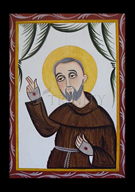 Holy Card - St. Padre Pio by A. Olivas