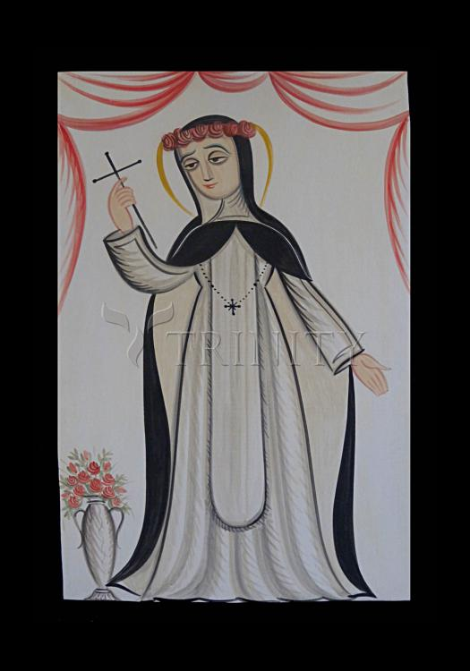 Holy Card - St. Rose of Lima by A. Olivas