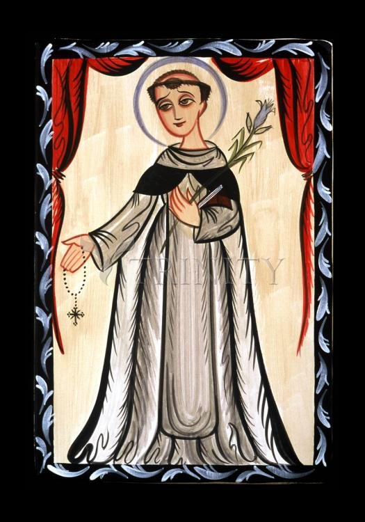 Holy Card - St. Dominic by A. Olivas