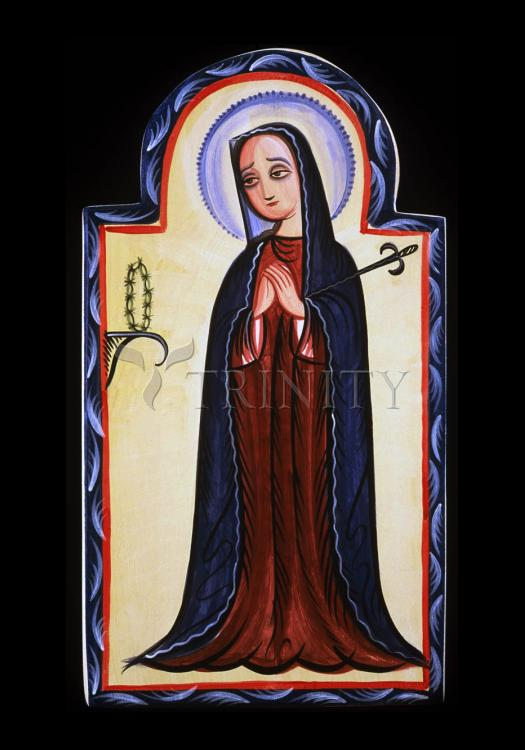 Holy Card - Mater Dolorosa - Mother of Sorrows by A. Olivas