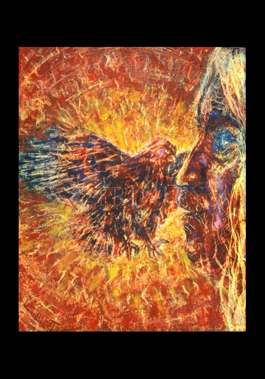 Holy Card - Eagle and Blind Elder by B. Gilroy