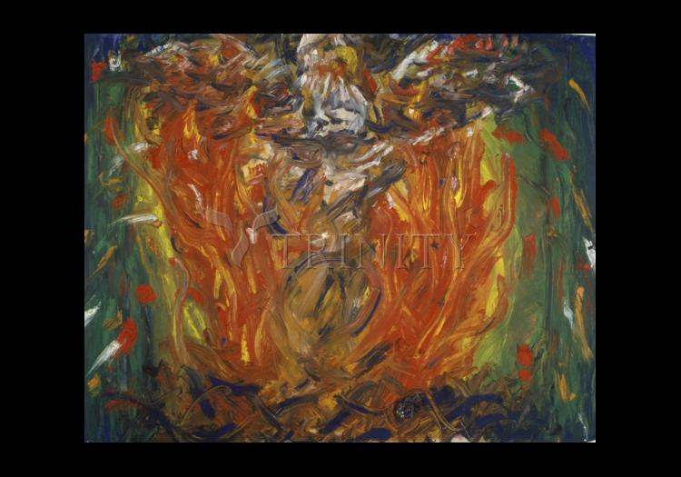 Holy Card - Eagle in Fire That Does Not Burn by B. Gilroy