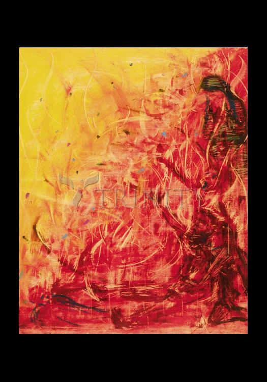 Holy Card - Figures In Flames by B. Gilroy