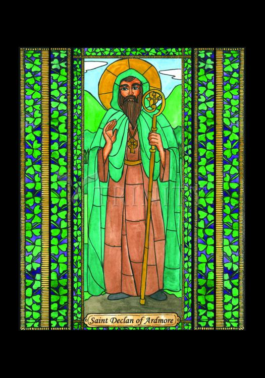 Holy Card - St. Declan of Ardmore by B. Nippert