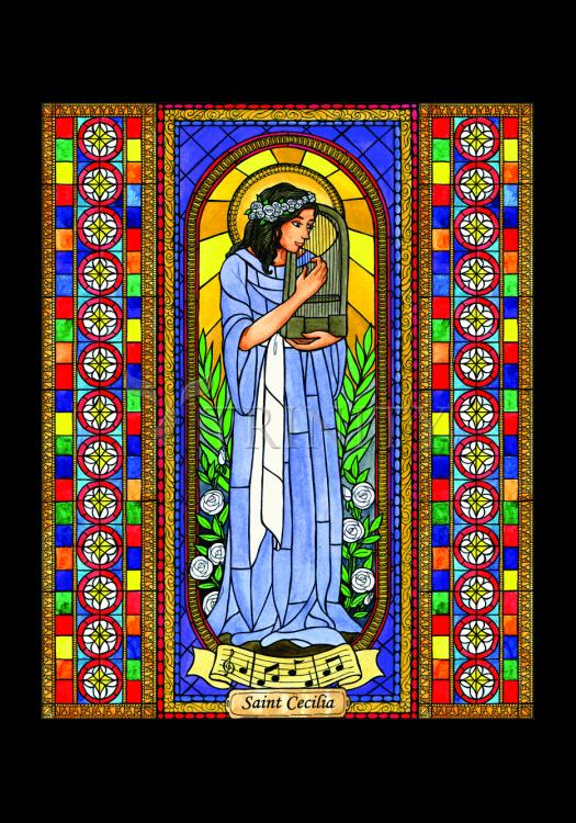 Holy Card - St. Cecilia by B. Nippert