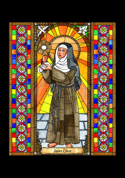 Holy Card - St. Clare of Assisi by B. Nippert