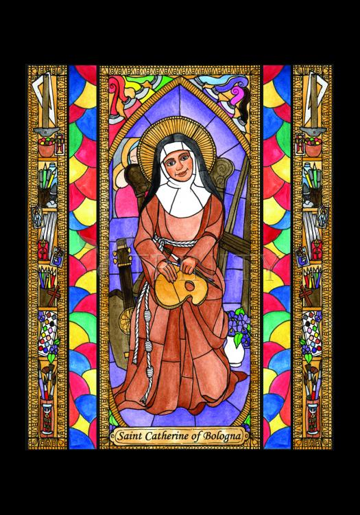 Holy Card - St. Catherine of Bologna by B. Nippert