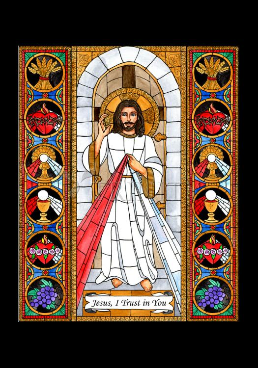 Holy Card - Divine Mercy by B. Nippert