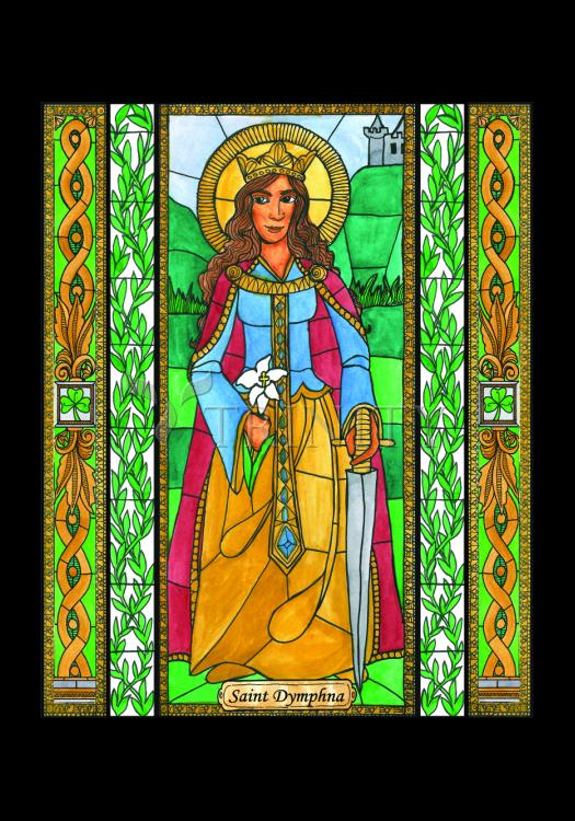 Holy Card - St. Dymphna by B. Nippert