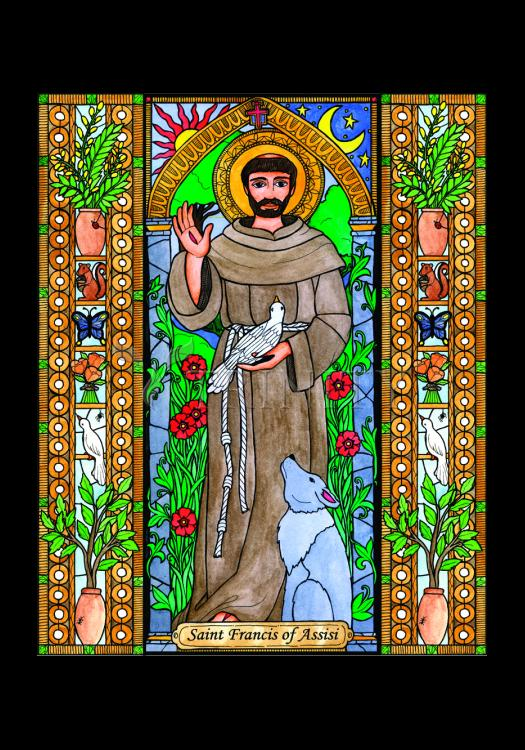 Holy Card - St. Francis of Assisi by B. Nippert