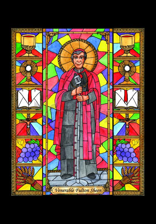 Holy Card - Ven. Fulton Sheen by B. Nippert