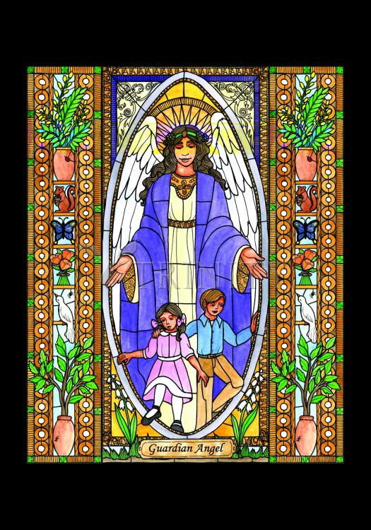 Holy Card - Guardian Angel by B. Nippert