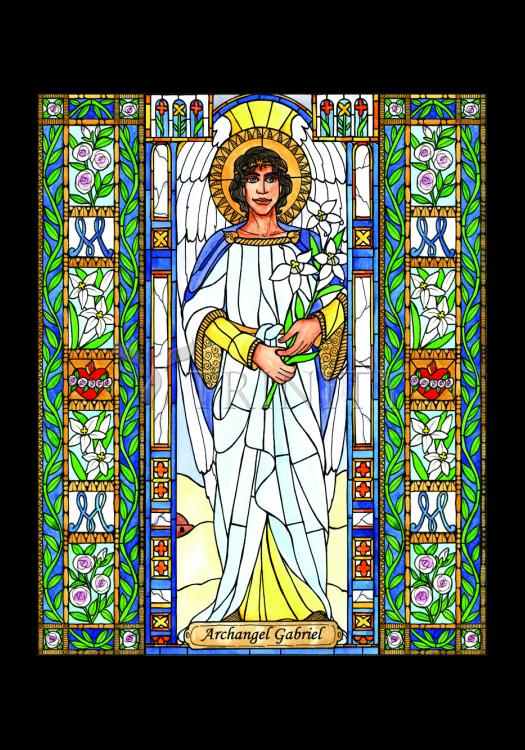 Holy Card - St. Gabriel Archangel by B. Nippert