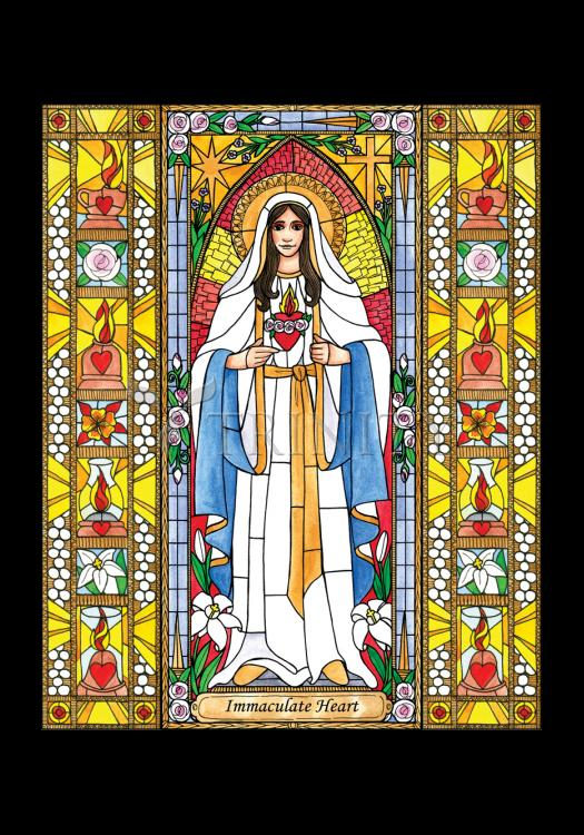 Holy Card - Immaculate Heart of Mary by B. Nippert