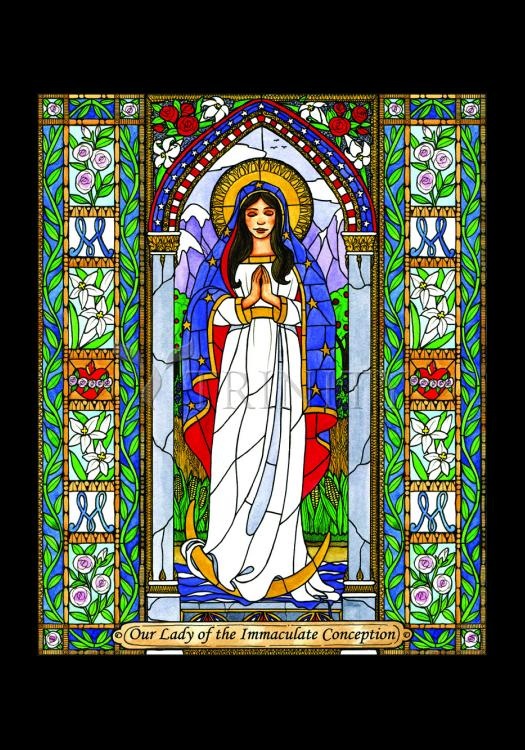 Holy Card - Our Lady of the Immaculate Conception by B. Nippert