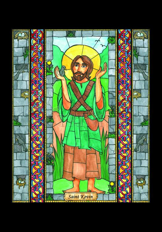 Holy Card - St. Kevin by B. Nippert