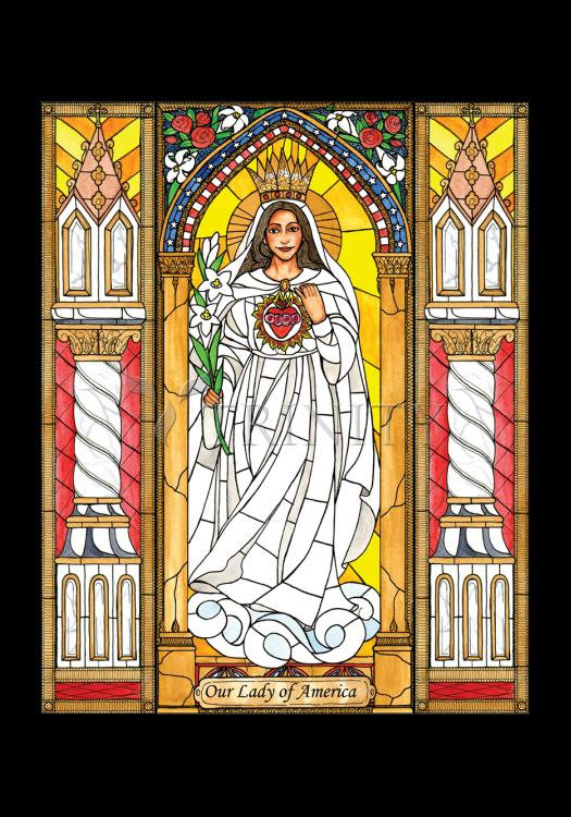 Holy Card - Our Lady of America by B. Nippert