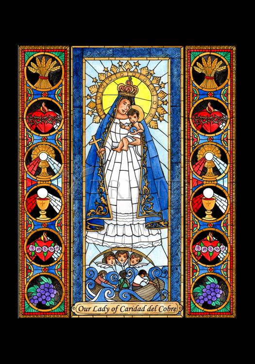 Holy Card - Our Lady of Caridad del Cobra by B. Nippert