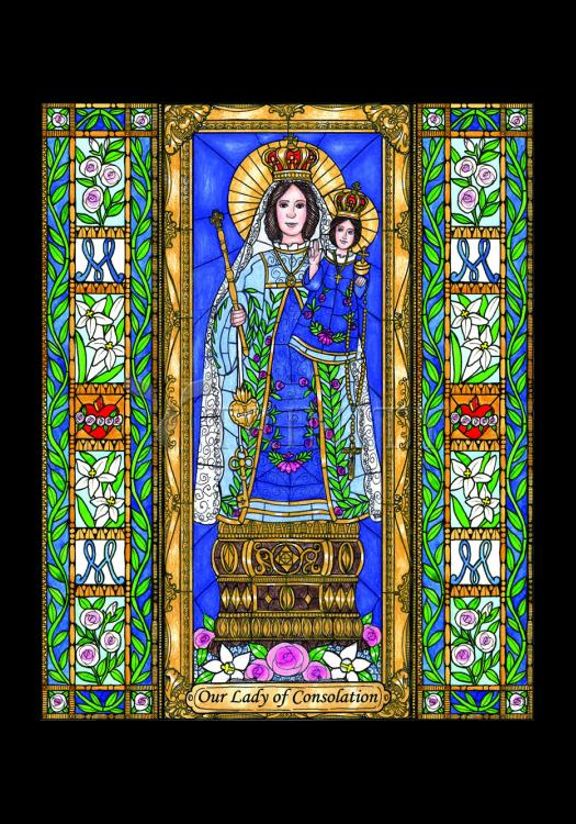 Holy Card - Our Lady of Consolation by B. Nippert