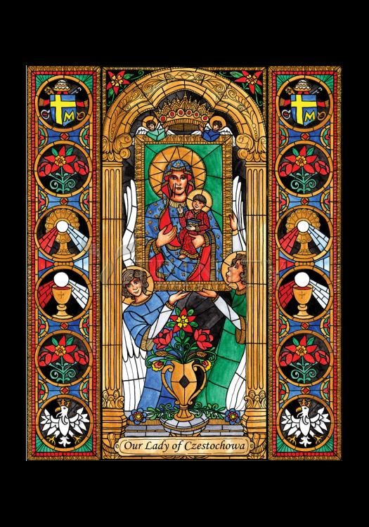 Holy Card - Our Lady of Czestochowa by B. Nippert