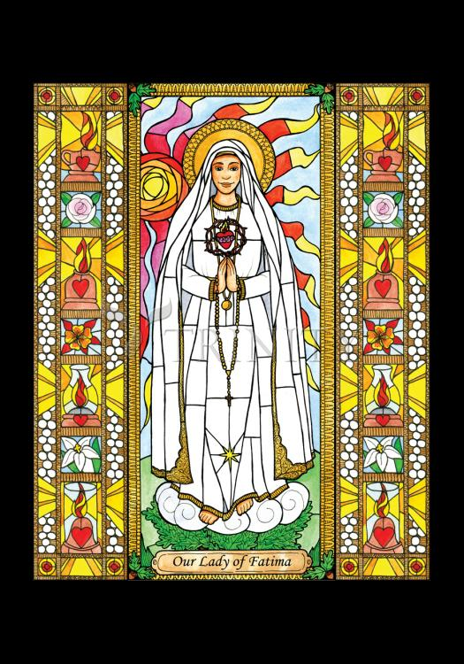 Holy Card - Our Lady of Fatima by B. Nippert