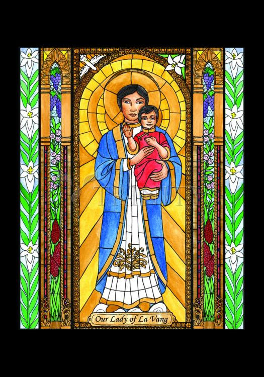 Holy Card - Our Lady of La Vang by B. Nippert