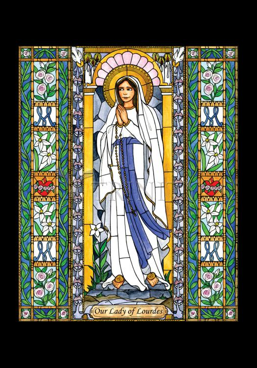 Holy Card - Our Lady of Lourdes by B. Nippert