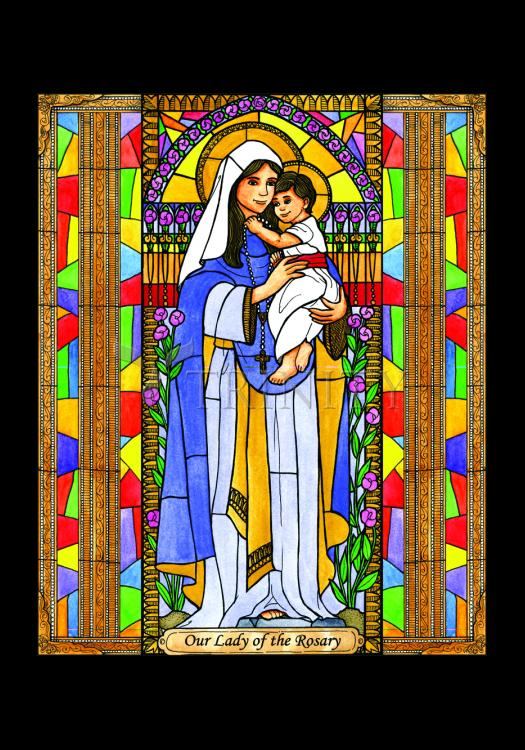 Holy Card - Our Lady of the Rosary by B. Nippert