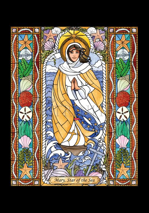 Holy Card - Our Lady Star of the Sea by B. Nippert