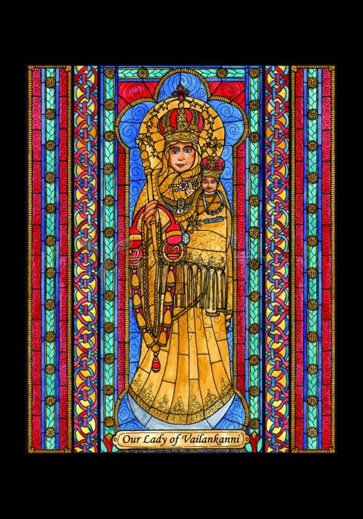 Holy Card - Our Lady of Vailankanni by B. Nippert