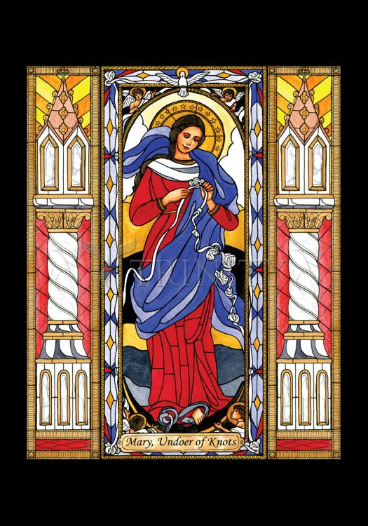 Holy Card - Mary, Undoer of Knots by B. Nippert