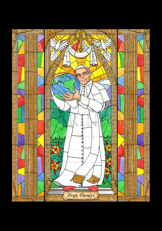 Holy Card - Pope Francis by B. Nippert