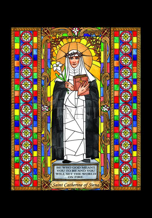 Holy Card - St. Catherine of Siena by B. Nippert