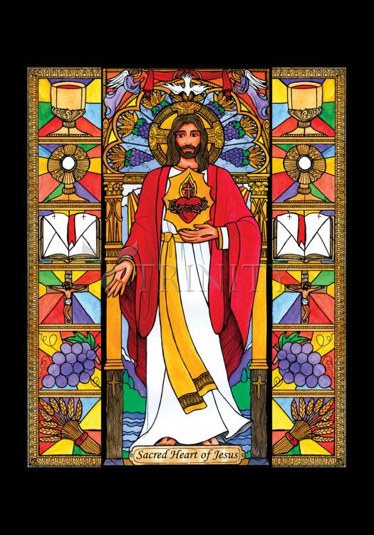 Holy Card - Sacred Heart of Jesus by B. Nippert