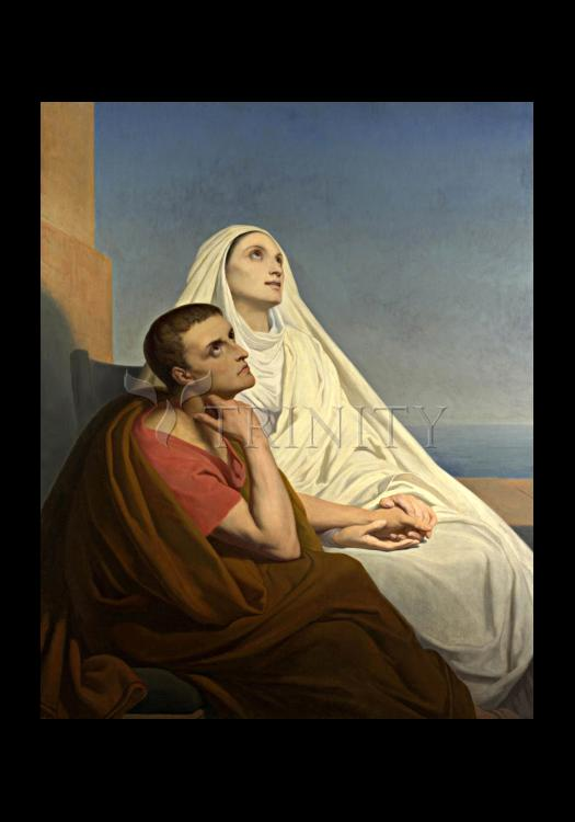 Holy Card - Sts. Augustine and Monica by Museum Art