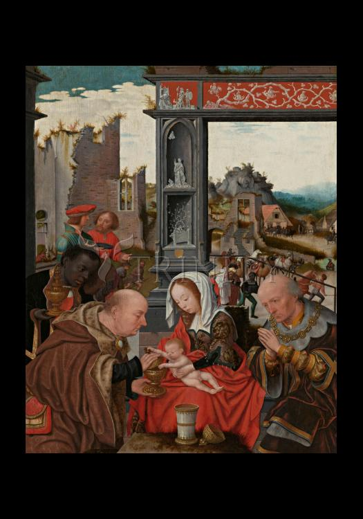 Holy Card - Adoration of the Magi by Museum Art