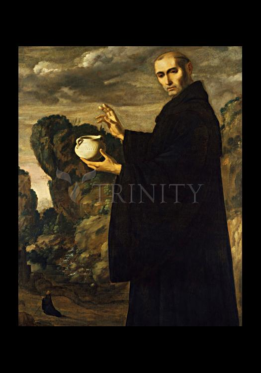 Holy Card - St. Benedict of Nursia by Museum Art