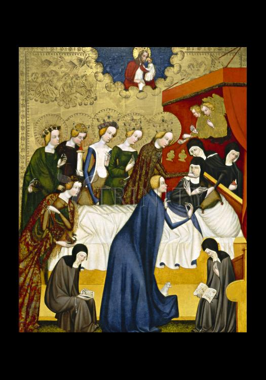 Holy Card - Death of St. Clare of Assisi by Museum Art
